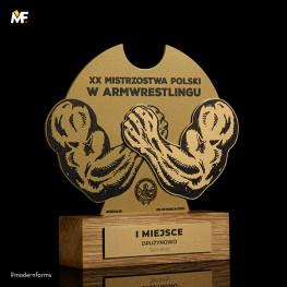 Statuetka XX Mistrzostwa Polski w Armwrestlingu