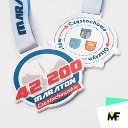 Dwustronne medale ze stali dla biegaczy
