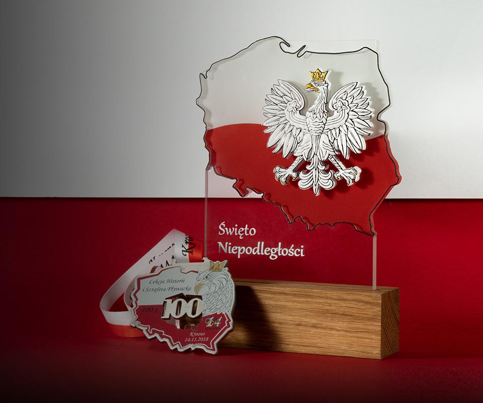 Medale patriotyczne, statuetki patriotyczne, odznaczenia - galeria nagród